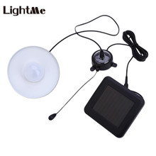 Lightme Solar Power 4 Leds 300LM LED Industrial Pendant Light Remote Control Hanging Lamp Portable Study LED Reading Lamp 2017(China)