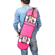 LumiParty Unisex 31*8 Inches Skateboard Bag Solid Color Waterproof Shoulder Carry bag Backpack