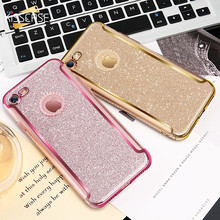 Buy KISSCASE Rhinestone Case iPhone 7 7 Plus Case Glitter Luxury Lovely Bling Silicone Case iPhone 6 7 Plus Cover Coque for $3.49 in AliExpress store