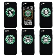 Starbucks Coffee X Stitch Minions Minnie Funny Cute Cartoon Case for iPhone 7 Soft Silicon Phone Cover for iPhone 7 6 6s Plus 5