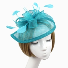 Stylish Feather Headband Fascinator Hats Ball Victorian Style Halloween Cap QL58