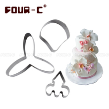 Butterfly orchid petal flower cutter cake decorating tools fondant mold tools cutter cupcake mold baking Kitchen accessories