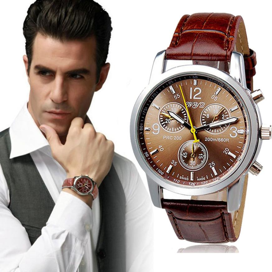 quartz Top Quality Fashion Crocodile Faux Leather Mens Business Wristwatches Leather Strap Analog Clock Quartz Dress Watches<br><br>Aliexpress