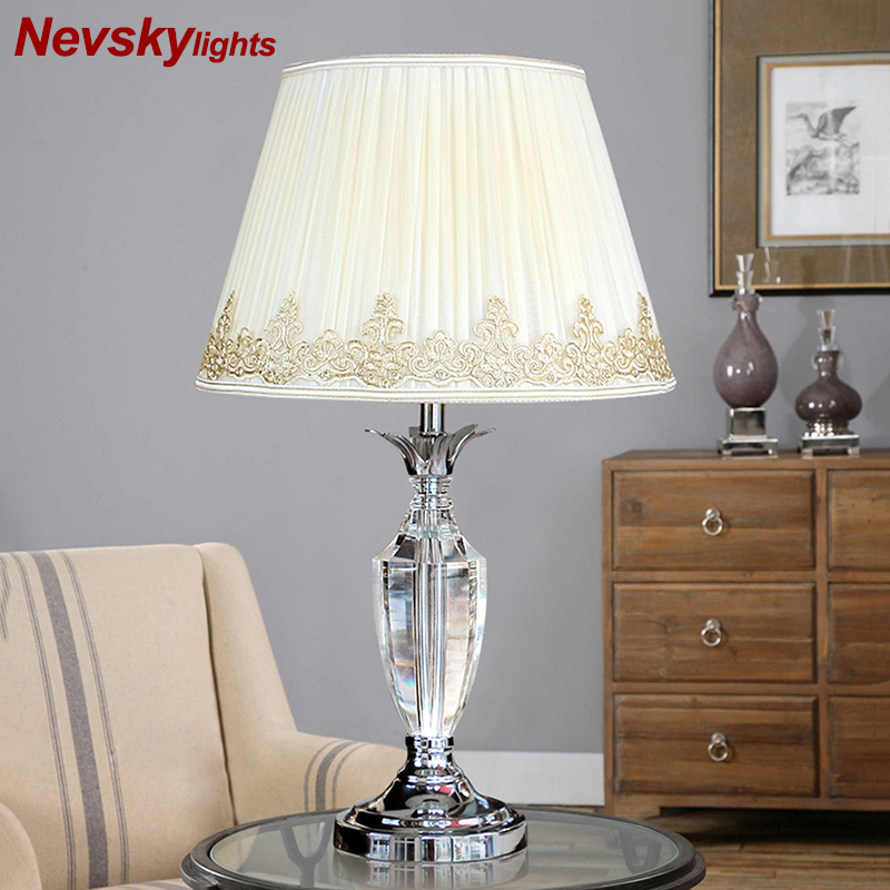 Crystal table lamp bedroom desk lights crystal table lights bulb lamp modern home decoration bedside table lighting living room