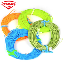 Proberos 100FT Weight Forward Floating Fly Fishing Line WF-2F/3F/4F/5F/6F/7F/8F Fly Line Moss Green/Orange/Fluo Yellow Color