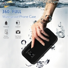 KISSCASE S7 Armor Waterproof Shockproof Touch Screen Case For Samsung Galaxy S7 G9300 Transparent Swimming Clear Protected Cover