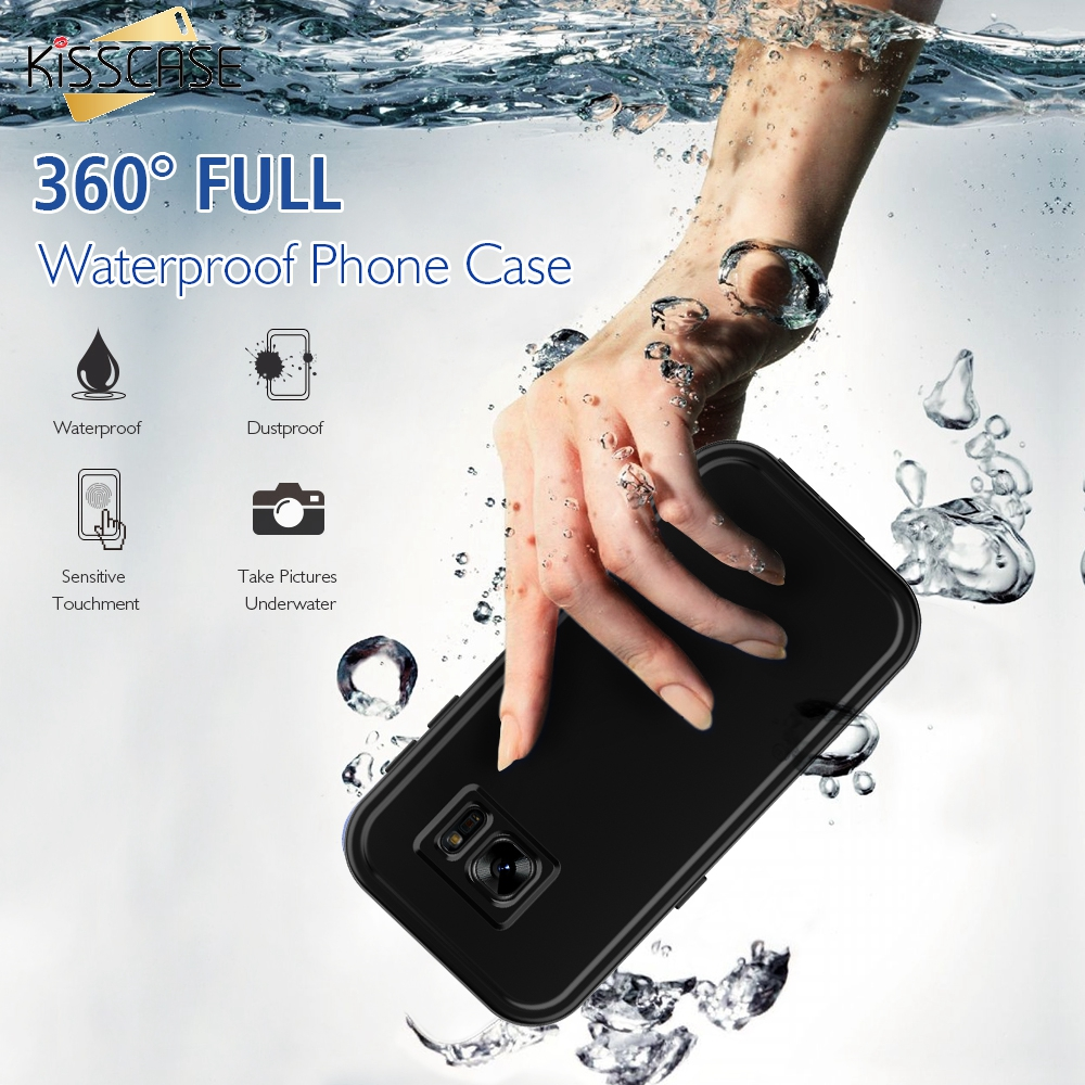 KISSCASE S7 Armor Waterproof Shockproof Touch Screen Case For Samsung Galaxy S7 G9300 Transparent Swimming Clear Protected Cover(China (Mainland))
