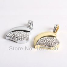 real capacity Diamond crystal heart USB Flash Memory Pen Drive USB 2.0 Genuine 16GB 32GB  Memory Stick Flash Drive S29 DD