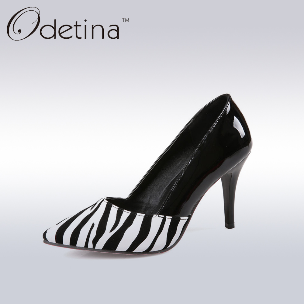 Odetina 2017 Fashion Women Pointed Toe Pumps Sexy Red Bottom Stiletto Heel Ladies Party Dress Shoes Super High Heels Women Shoes<br><br>Aliexpress