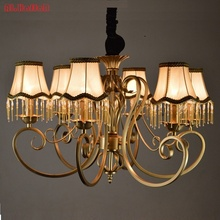 Christmas European Fashion Vintage Chandelier Ceiling lamp 6/8 Candle Lights Lighting Fixtures Iron Home Lighting E14 Modern(China)