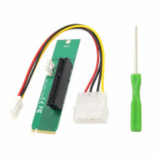 2017 Computer Connectors PCI Express PCI-E 4X Card Female To NGFF M.2 M Key PCIe Slot Male Adapter Power Cable Converter Card(China)