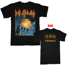 DEF LEPPARD PYROMANIA T shirt Men two sides casual gift tee USA Size S-3XL