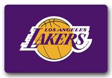 Custom NBA Team Logo Doormat Los Angeles Lakers Door Mat Basketball Bathroom Carpet Lakers Floor Cushion Kids Bedroom #D-0119#