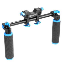 Neewer DSLR Dual Handle Hand Grip for Shoulder Pad Chest Steady 15mm Rail Rod Rig Support System(China)
