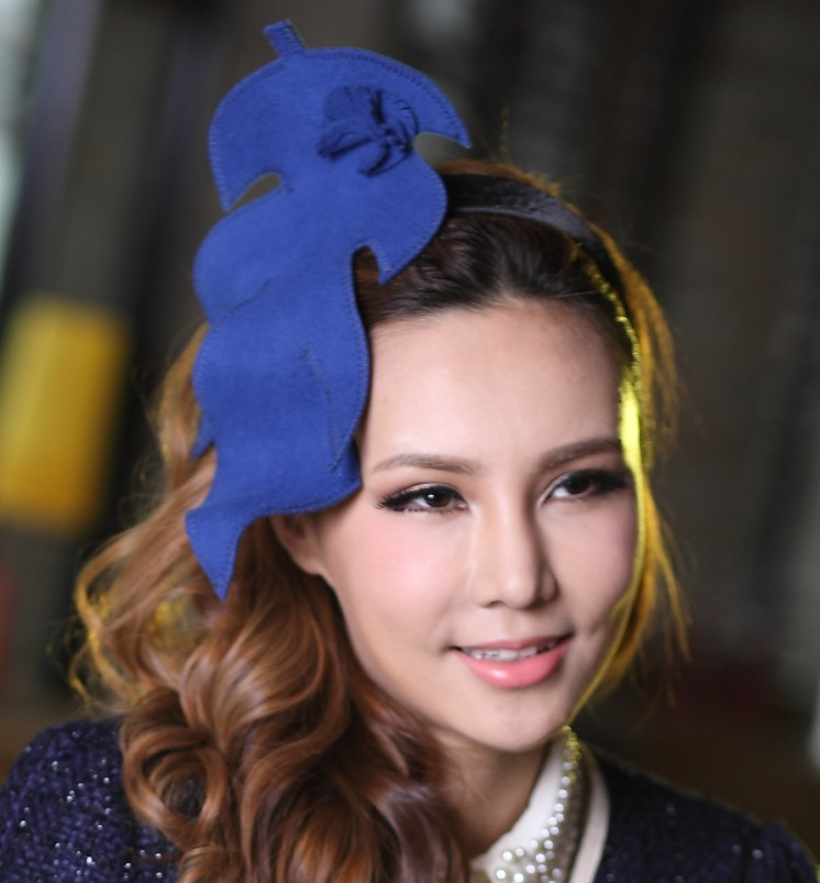 Free Shipping Girls Wool Felt Fascinator Hats Lady Fashion Flower Girl Hair Accessories Hair Bows With Clips Bridal Accessories<br><br>Aliexpress