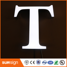 shanghai high bright epoxy resin led channel letter sign