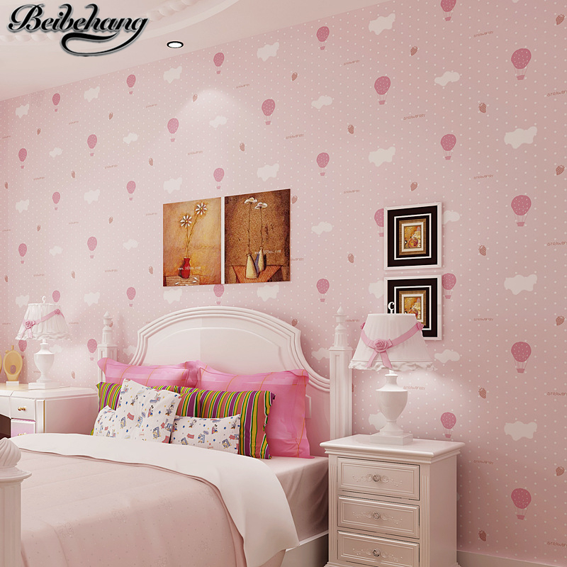 beibehang Environmental papel de parede wallpaper boy girl warm cartoon children room blue sky white clouds balloon wall paper<br>