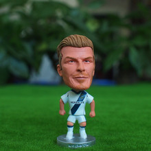Kodoto Classic 6.5 cm Height Football Star Doll LA 23 Beckham Mini Resin Figure White Kit Collections Gift(China)