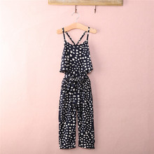Fahsion Casual Kids Baby Girls Dress Summer Cotton Pastoral Style High-quality Jumpsuit Pants 2-7T