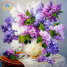 Diy oil painting by numbers abstract brush acrylic paint hand painted decorative canvas painting coloring by number flowers Y081