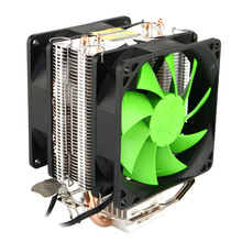 New 80mm Dual Fan CPU Heatsink 12V Super Cooling Desktop PC CPU Quiet Cooler for Intel LGA775/1150/1155/1156 AMD 95W Socket 1PC