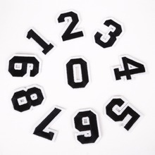 10PCs/Set Number From 0-9 Patches For Clothing Iron On Applique Embroidery Sticker Badge DIY Garment Jeans Accessories Supplies(China)
