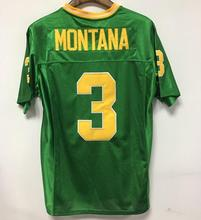 Green American Football Jersey Joe Montana 3 Notre Dame Fighting Irish Sewn Football Jersey Movie Jerseys
