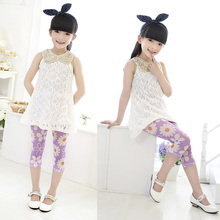 Kid Child Dance Render Pants Girls Capri Trousers Cropped Tight Pants 2-7Y Princess(China)