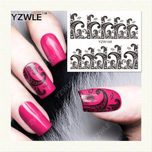 Water Transfer stickers for nail art flower secret totem Design Fingernails Decals Manicure Decor Nail Wraps Decals(China)