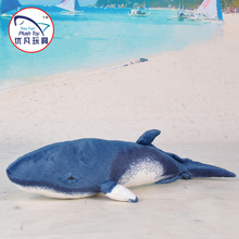 Aquarium gift toy edition stuffed minke whale plush animal soft toy promotion product factory sale