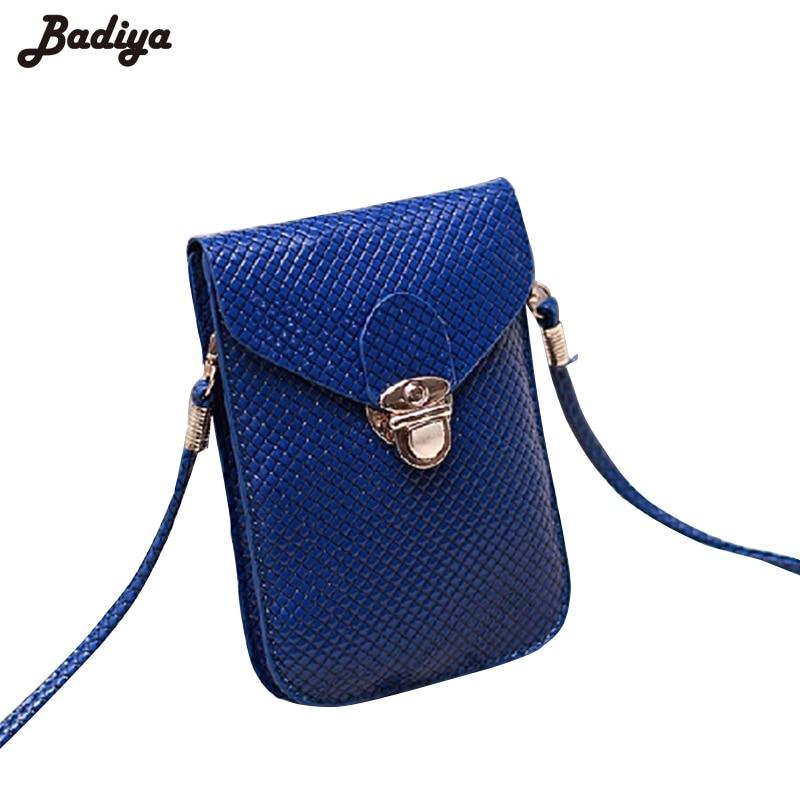 2016 Fluorescence Colors Women Mobile Phone Bags Fashion Small Change Purse Female Woven Buckle Shoulder Bags Mini Messenger Bag<br><br>Aliexpress