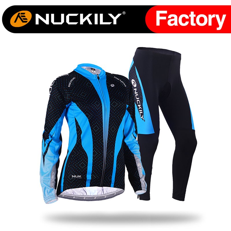 Nuckily Spring/Autumn women long sleeve breathable wicking cycling wear jersey suit GC003GD003<br><br>Aliexpress
