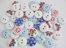 WBNSLK Novelty buttons for baby 120pcs/lot 15mm round style charm button sewing accessories for craft scrapbook(China)