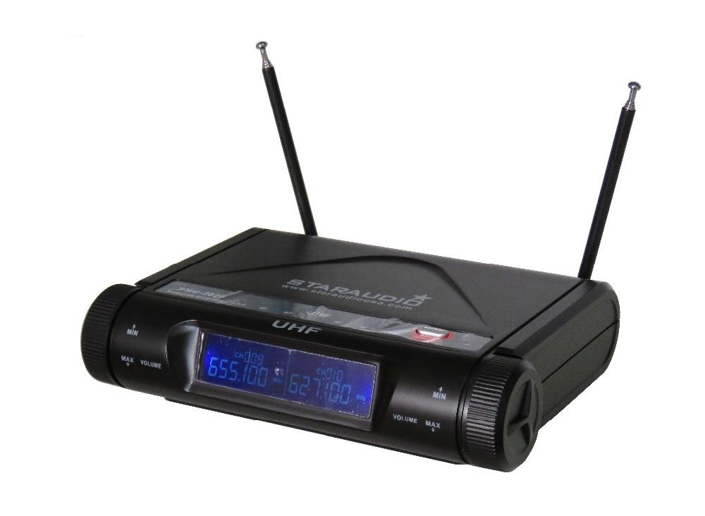 STARAUDIO SMU-2020B New Brand Professional Stage Church Club 2CH Wireless UHF Dual Headset Microphone Mic System