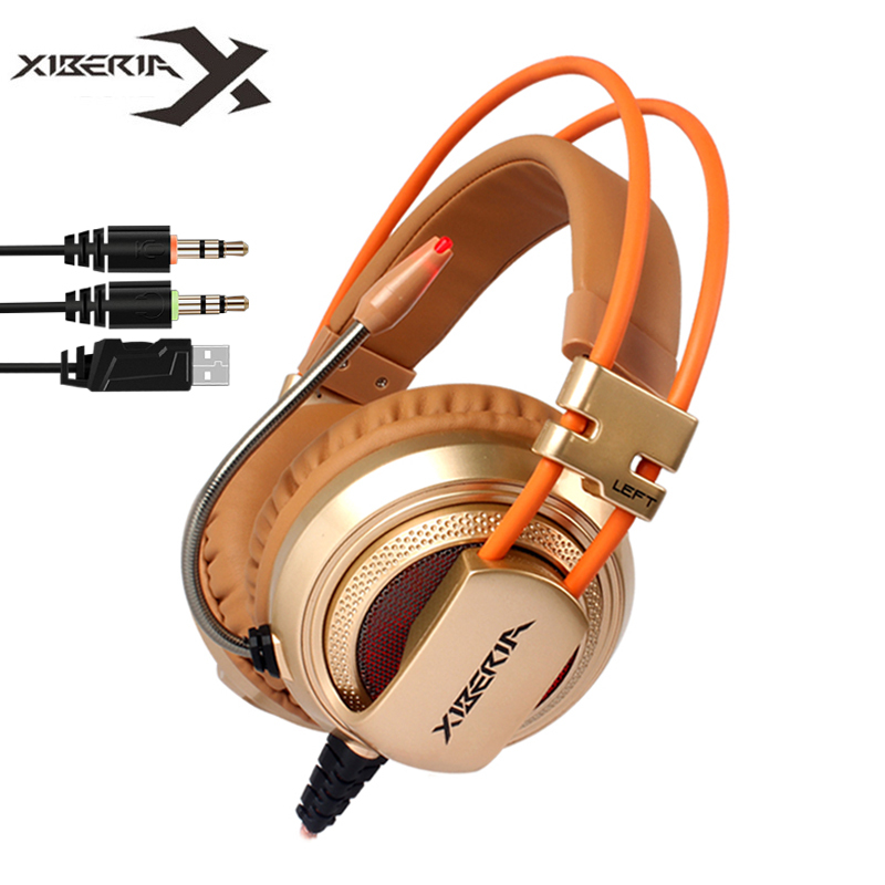 Gaming Headphones XIBERIA V10 Computer Stereo Game Headset ecouteur with Microphone LED Light For PC Gamer<br><br>Aliexpress
