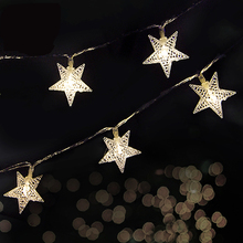 2M 3M 4M 20LEDs Battery Operated String Fairy Lights LED star Flower Christmas Home Garland Decor