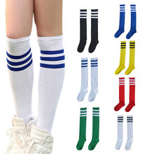 Buy Football Striped Long Tube Socks Soccer Lacrosse Rugby Sport Knee High Sock BB55 for $1.42 in AliExpress store