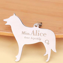 New Stainless Steel Engraved Dog ID Tags Personalized Name Telephone Bar Cat Dog Pendant Necklace Custom Pet Double Side Pendant(China)