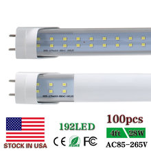 CNSUNWAY LIGHTING 4ft LED Tube Lights T8 Double Row 120cm 1200mm Clear/Frosted Lens Cold White 6500K 28W 2800lm US SHIP 100pcs(China)