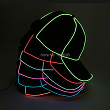 DC1.5V Bright EL Wire Cold Light Party Dance Jazz Hat Neon Led Bulbs Fluorescent Costume Flickering Cap for Summer Sport Meet