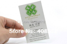 Custom 300gsm Glossy or matte laminate paper visit/ business/ name card printing service(China)
