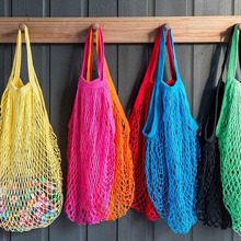 2017 Fashion Shopping Bag Women Handbag Tote Reusable Grocery Bags Beach Mesh Bag fruit candy gift bag wedding party decoration(China)