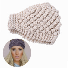M MISM Girls Solid Crochet Headband High Quality Knitted Turban Hair Accessories for Women Fashion Stretch Head Wrap Hairband
