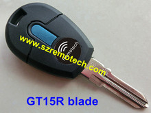 5pcs/lot Free Shipping New Style Replacement Car Key Cover Transponder Key Shell Blank GT15R Blade Fit For Fiat
