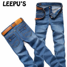 LEEpu's Brand men's ripped jeans,Equipped with POLO shirt more attractive man,summer style casual fashion Straight pants 0718(China)