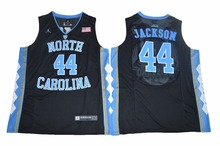 2017 NIKE North Carolina Tar Heels Justin Jackson 44 College Ice Hockey Jersey - Black SizeS M L XL 2XL 3XL