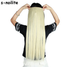24-30 inches Women Straight Clip In Hair Extensions One Piece 3/4 Full Head Long Hair Extension Hairpieces