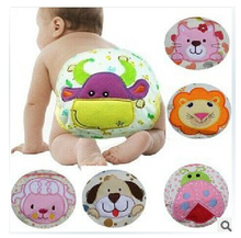 baby diapers briefs pure cotton cartoon animals print infant training pants cute baby waterproof underwear Y95(China)