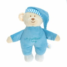 44*32cm Wingingkids Baby Plush Toys Soft Bedtime Stuffed Toys Blue Plush Teddy Bear Animal Children Toys Gifts Soft Plush Doll