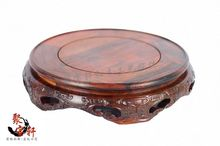 red rosewood carving stone base carved Buddha household act the role ofing is tasted annatto handicraft furnishing articles